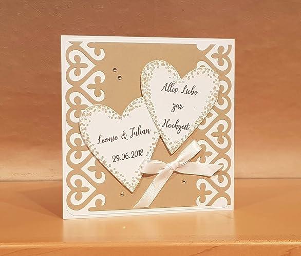 Hochzeitskarte Karte Hochzeit Namen Datum Personalisierbar