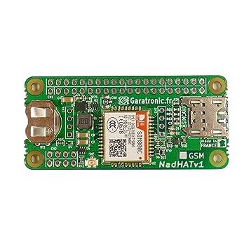 NadHAT v1 GSM/GPRS expansion board for Raspberry Pi B+: