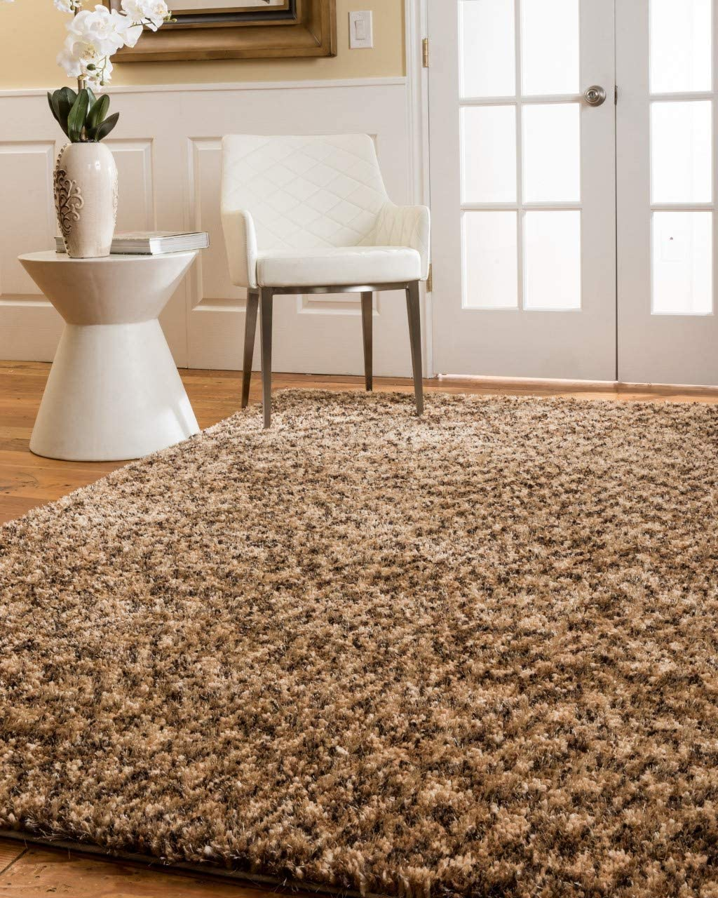 Natural Area Rugs Hand-Crafted Maldives Polyester Rug 8 x 10 Honey