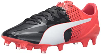 the latest f9707 ce9b7 PUMA Men s Evospeed SL-S II FG Soccer Shoe, Black White Red,