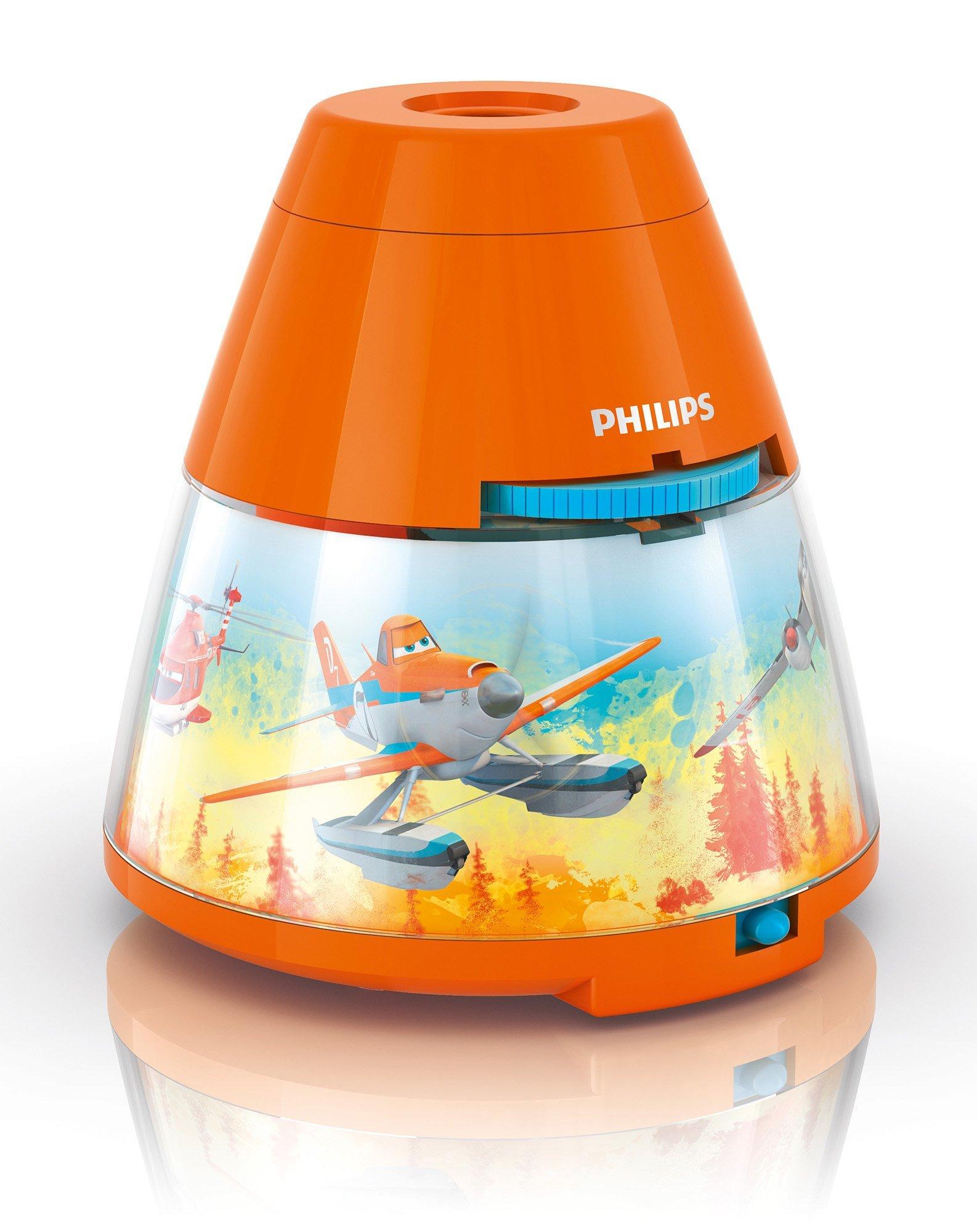 Philips Lighting 71769/53/16 Proyector y luz nocturna 2 en 1, Naranja