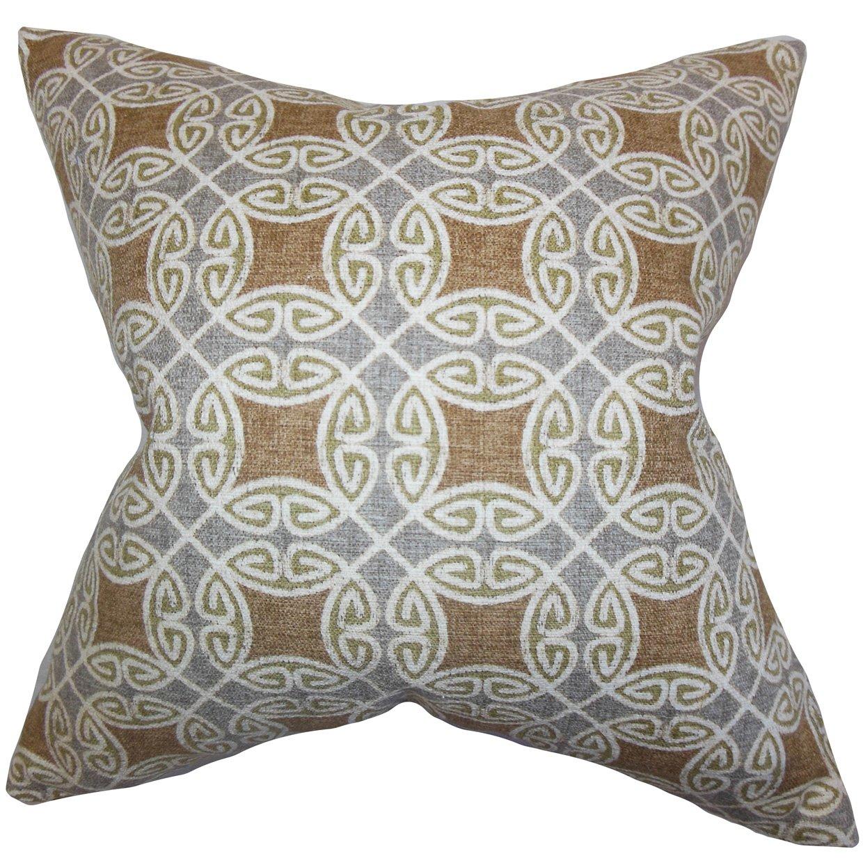 The枕コレクションp20-d-42418-cocoa _ silver-c100 Warren幾何枕、シルバー、20