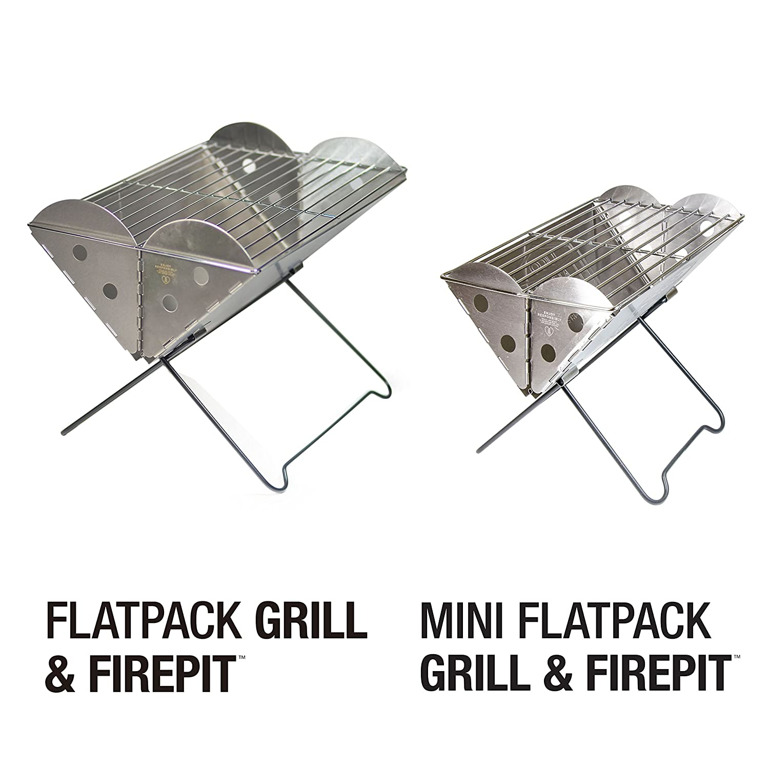 Flat Pack Outdoor Kitchens Amazoncom Uco Flatpack Mini Portable Stainless Steel Grill And
