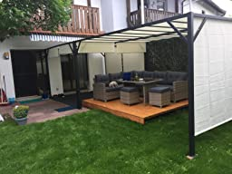 pergola baia garten pavillon terrassen berdachung stabiles 6cm stahl gestell. Black Bedroom Furniture Sets. Home Design Ideas