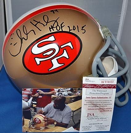 363b3748456 Charles Haley Autographed Signed Custom Facemask Full Size Rep Helmet San  Francisco 49ers HOF Memorabilia -