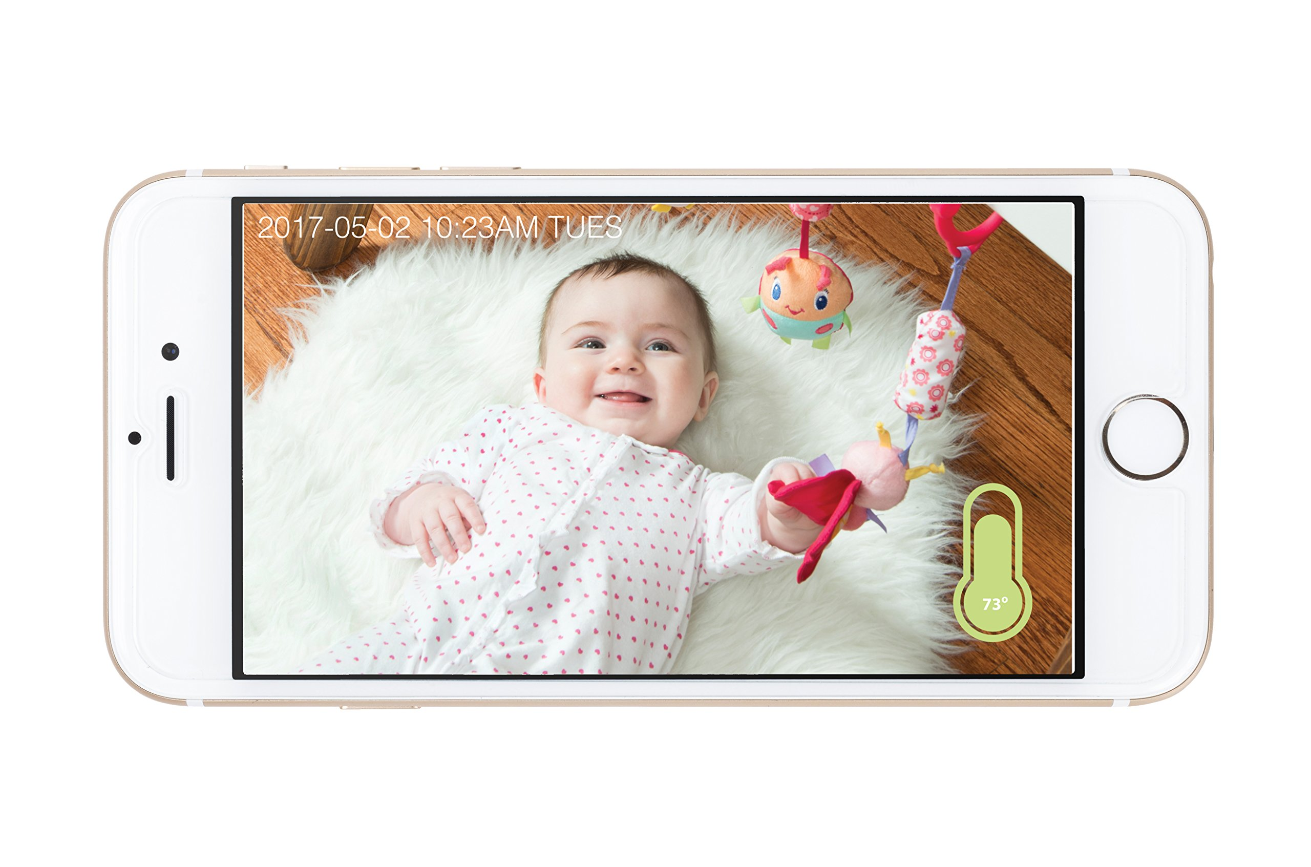 Project Nursery HD WiFi Video Baby Monitor System with Sound, Motion & Temperature Alerts & an App for iOS, Android and Any Smartphone or Tablet by Project Nursery (Image #3)