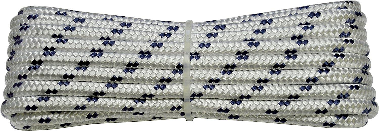 05/mm-030/MT White with Blue Plastic Label /00/Braid Nautica Color: White with Blue Marker Corderie Italiane 6001706/