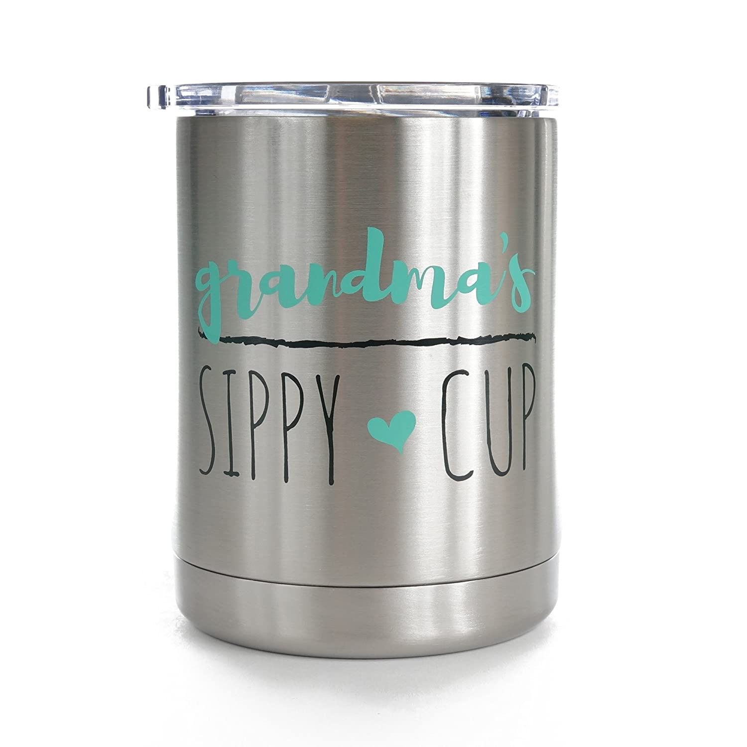 Grandma's Sippy Cup 10 oz. Stainless Steel Lowball - Proudly Screen Printed in the USA - Double Wall Vaccum Insulated