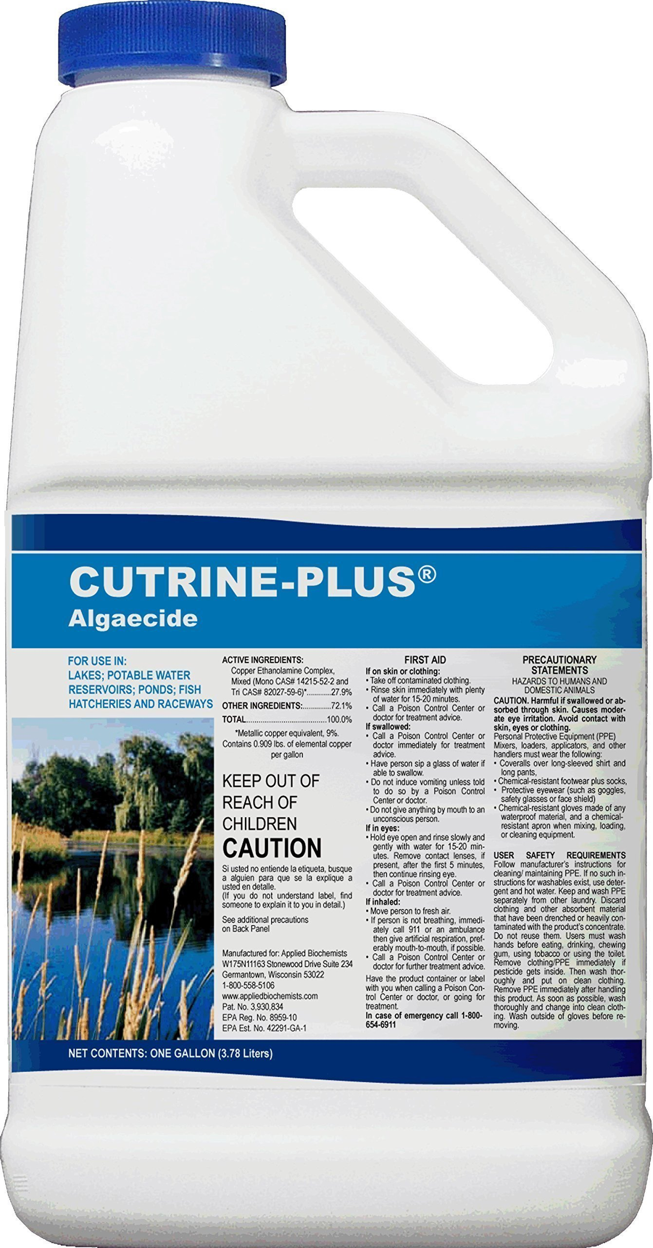 Cutrine Plus 38005901015 76513 Professional Strength Aquatic Algaecide, 1 Gallon, Blue by Cutrine Plus