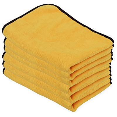 Simple Houseware 6PK Premium Microfiber Towel, Orange: Automotive