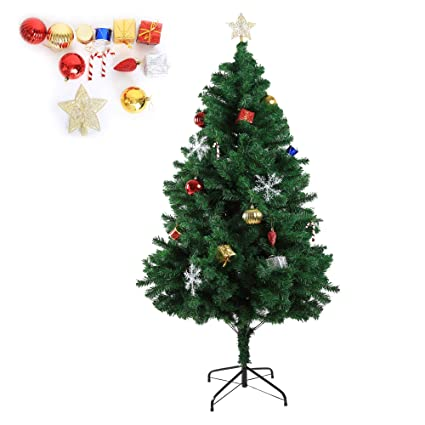karmas product 6 foot high xmas tree 800 tips decorate pine tree with metal legs green