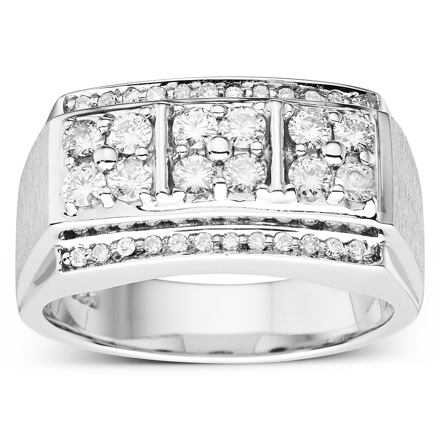 Forever Classic Mens Round 3.0mm Moissanite Wedding Band-size 10, 0.84cttw DEW By Charles & Colvard by Charles & Colvard