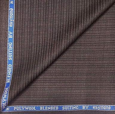 1c6c60488 Raymond 45% Merino Wool Brown self Stripes Unstitched Blazer Fabric - 2.50  metres