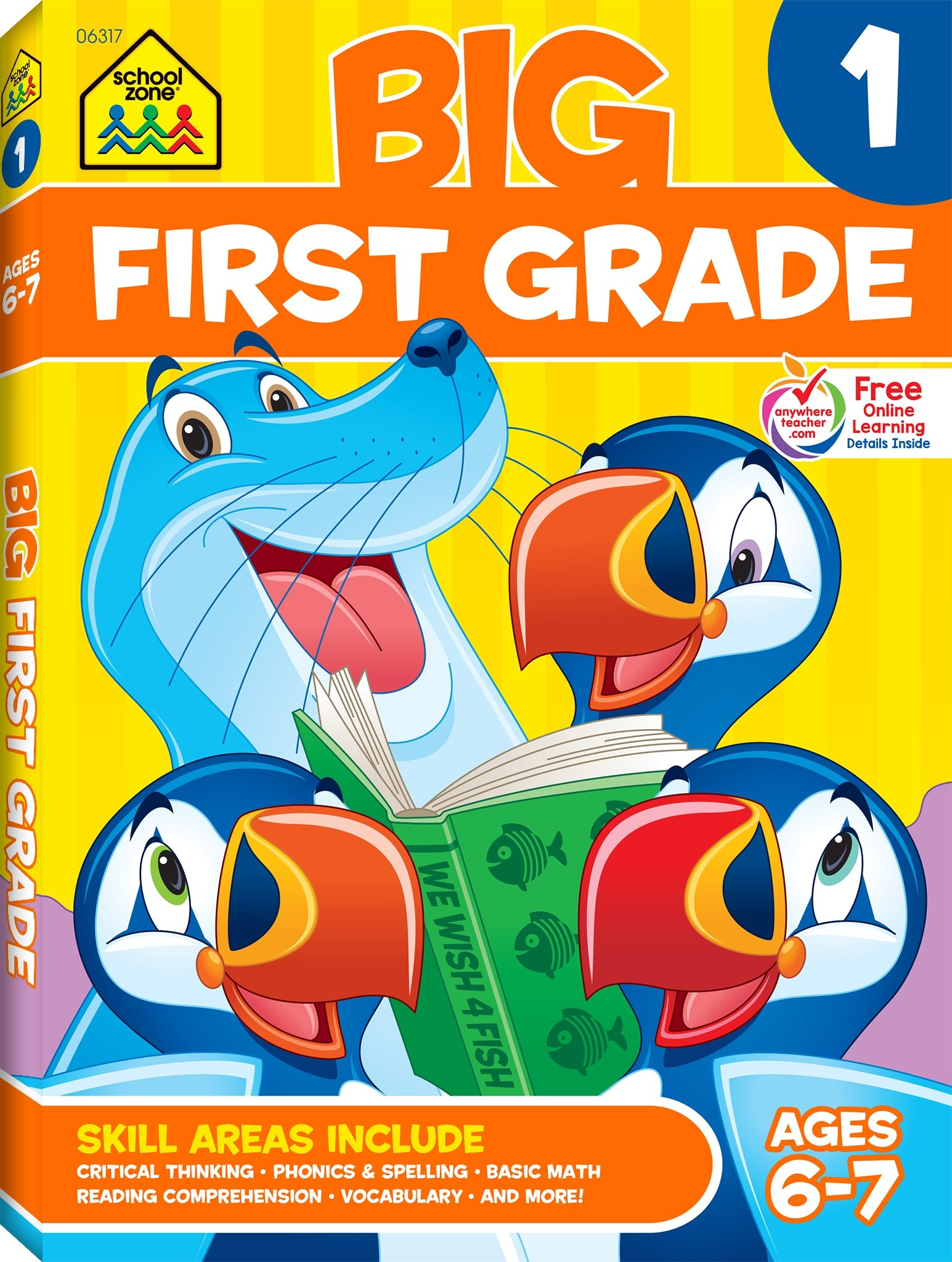 Big First Grade Workbook, Ages 6-7, 1, 320 pages, great quality & value,  prepares first graders for success, essential skills: School Zone Staff: ...
