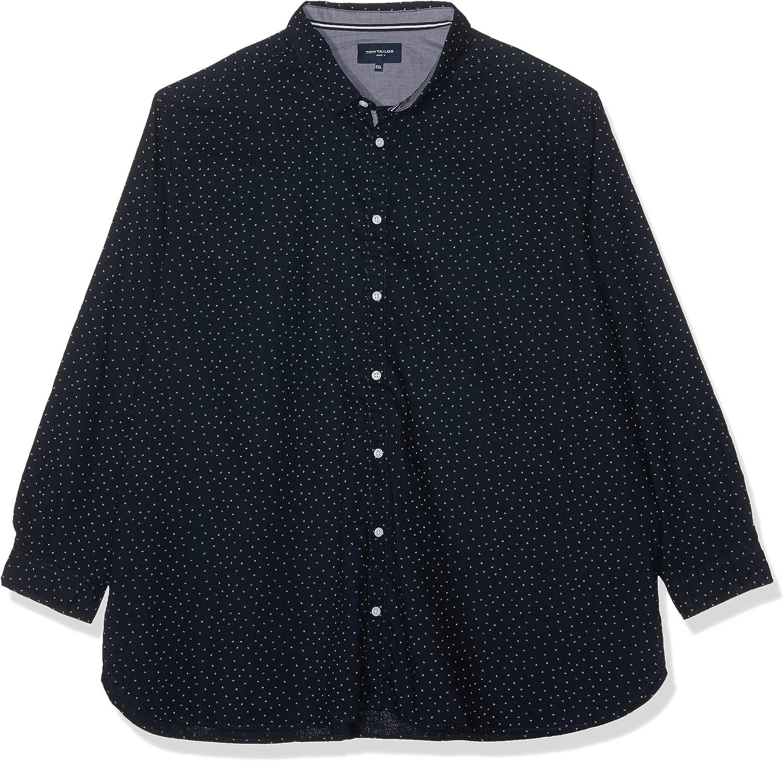 Tom Tailor Denim 1011757 Camisa, Azul (Blue Minimal Print 17250), XXXX-Large para Hombre: Amazon.es: Ropa y accesorios