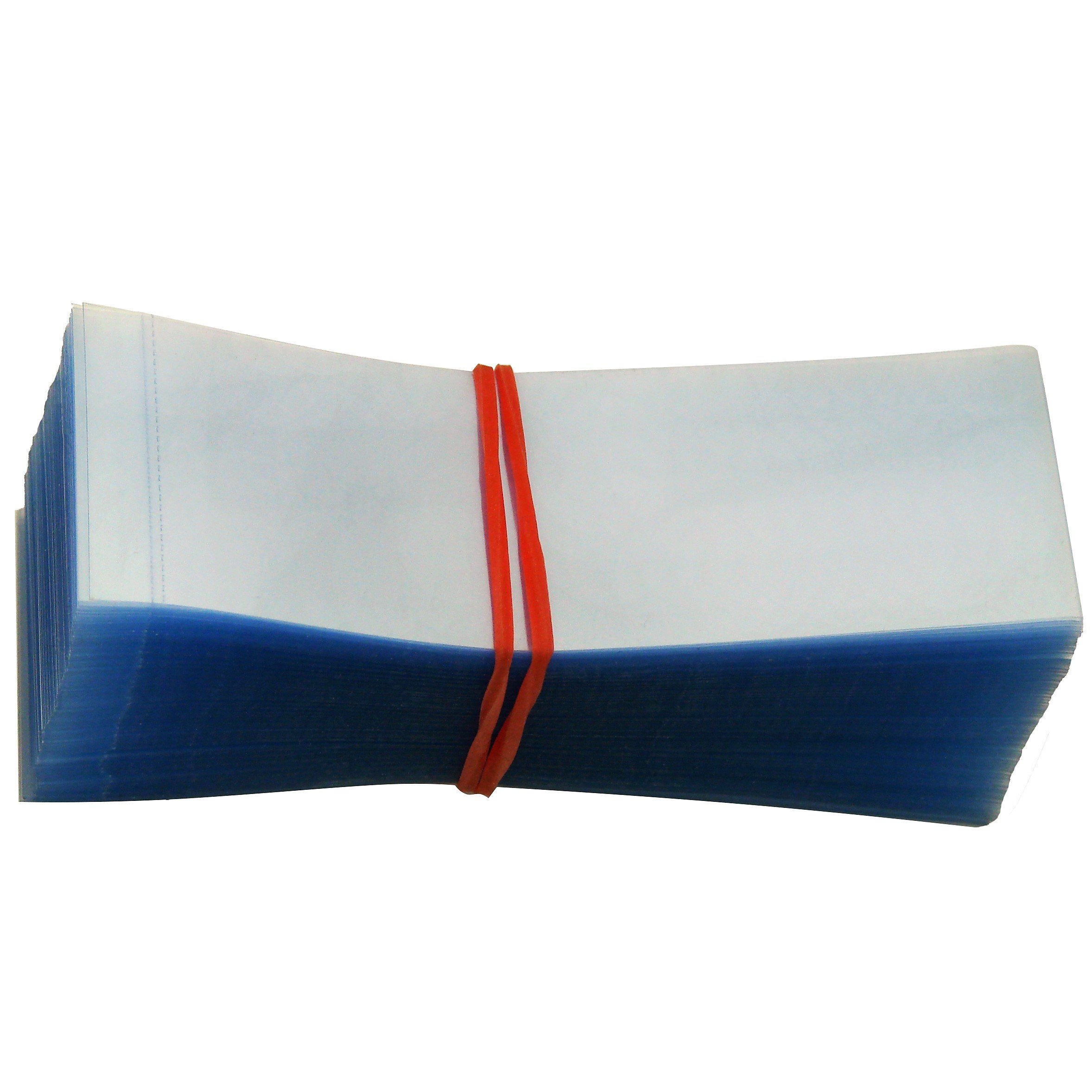 3 3/8'' x 1 1/8'' Perforated Shrink Wrap Bands Pack of 200 - Fits Cap Diameter 1 3/4'' to 2'' (Size Options) [Instructions Included]