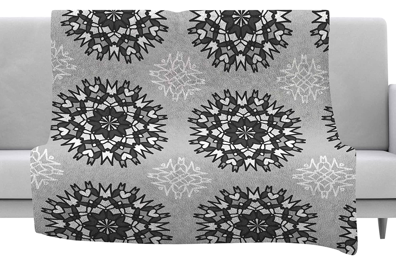 60 x 40 Fleece Blankets Kess InHouse Nika Martinez Princess BW Gray Vector Throw