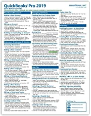 QuickBooks Pro 2019 Quick Reference Training Card - Laminated Tutorial Guide Cheat Sheet (Instructions and Tips)
