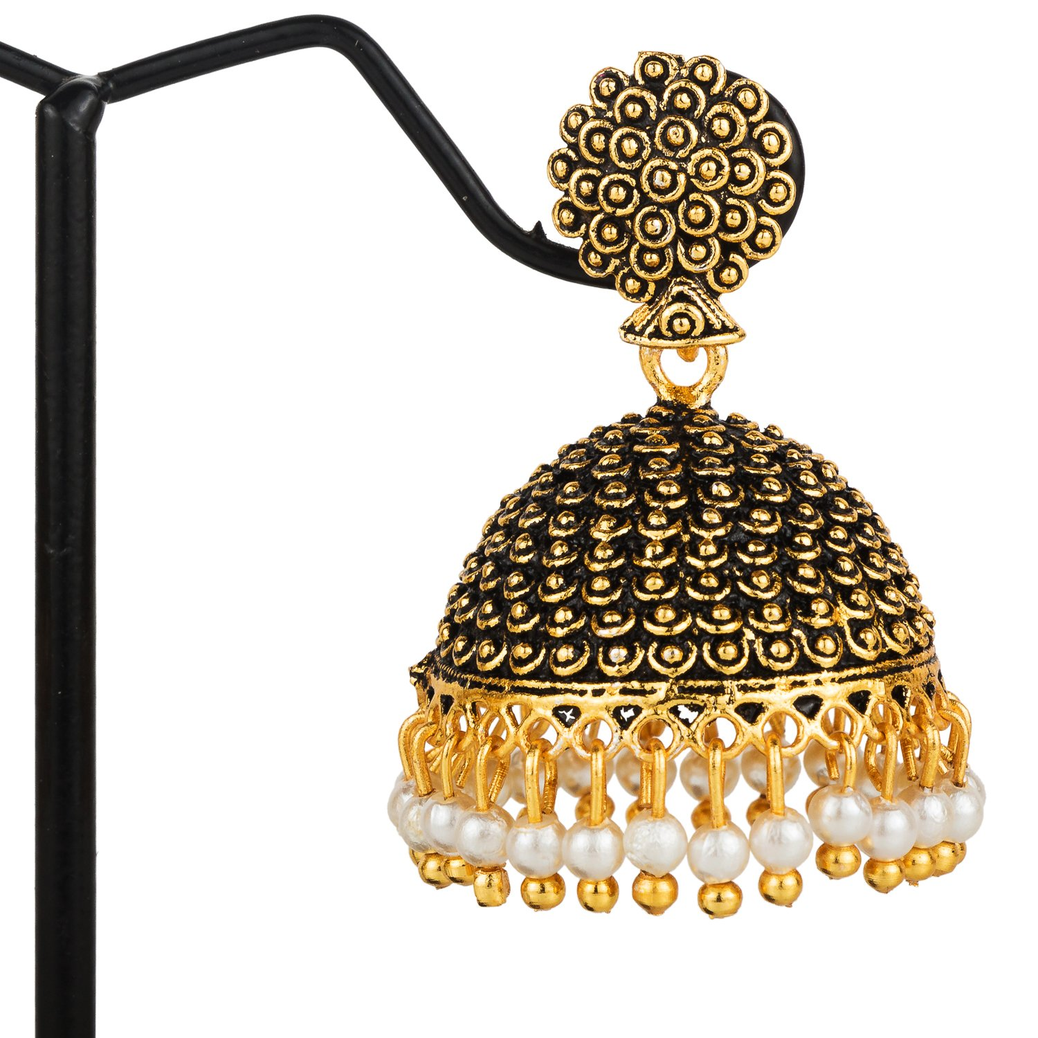 aed78b7e6 Buy Samyra Metal Black Alloy Elegant Jhumka Jhumki Traditional Earrings For  Girls And Women Online at Low Prices in India | Amazon Jewellery Store -  Amazon. ...