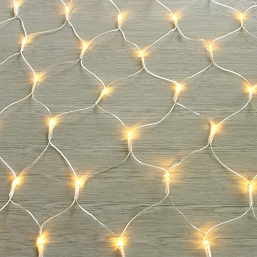 Red de luces LED 100 / 160 / 320er, cadena de luces, blanco cálido, lámpara decorativa de interior y exterior para jardín, Navidad, bodas, con conector Gresonic.: Amazon.es: Iluminación