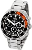 Doxa Sub 300 T-Graph Sharkhunter Sapphire Bezel Men's Automatic Watch with Black Dial Chronograph Display and Silver Stainless Steel Bracelet 878.10.101.10