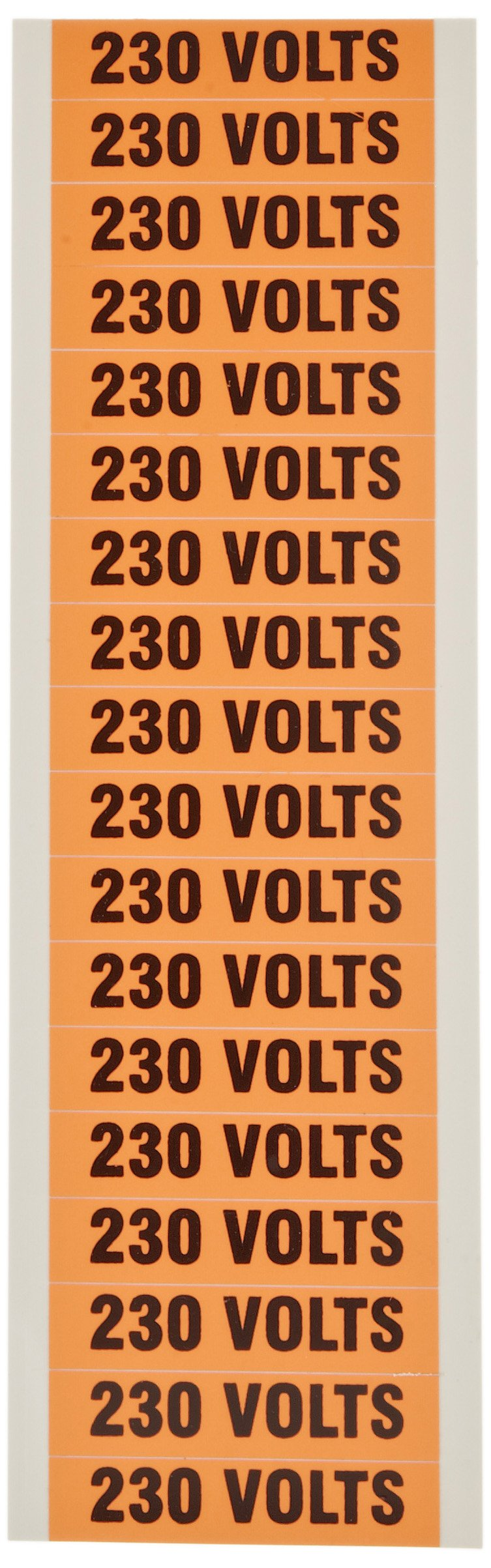 Morris Products 21356 Voltage Marker, 230V Legend (Pack of 5 Cards, with 18 Markers Per Card)