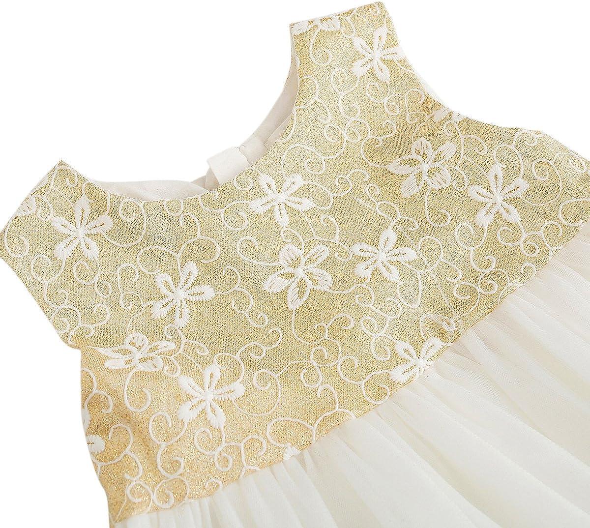 BOBORA Baby Girls Kids Princess Sequins Tulle Lace Tutu Slip Dress