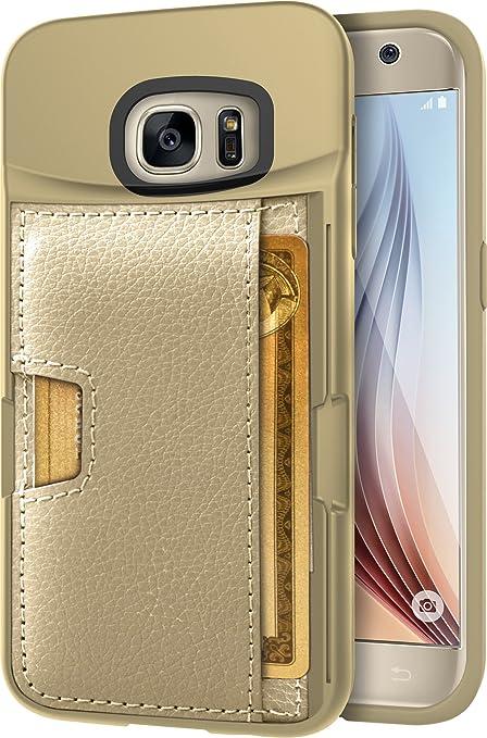 new concept 0768d fdd9b Silk Galaxy S7 Wallet Case - Q Card CASE [Samsung Slim Protective Kickstand  CM4 Grip Cover] - Wallet Slayer Vol.2 - Platinum Gold