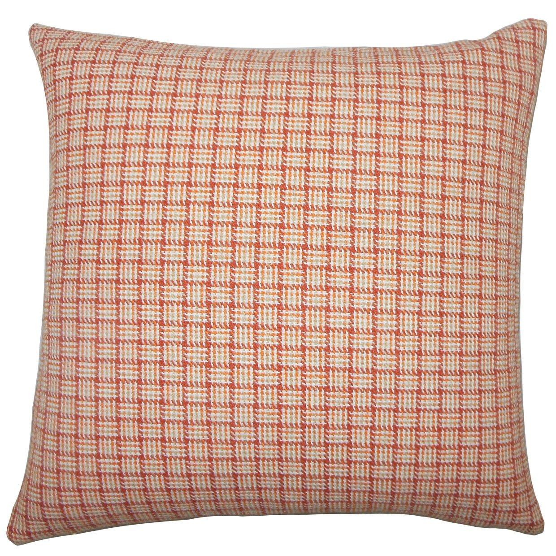 The枕コレクションQuora PlaidオレンジDown Filled Throw枕   B074KT3J8V
