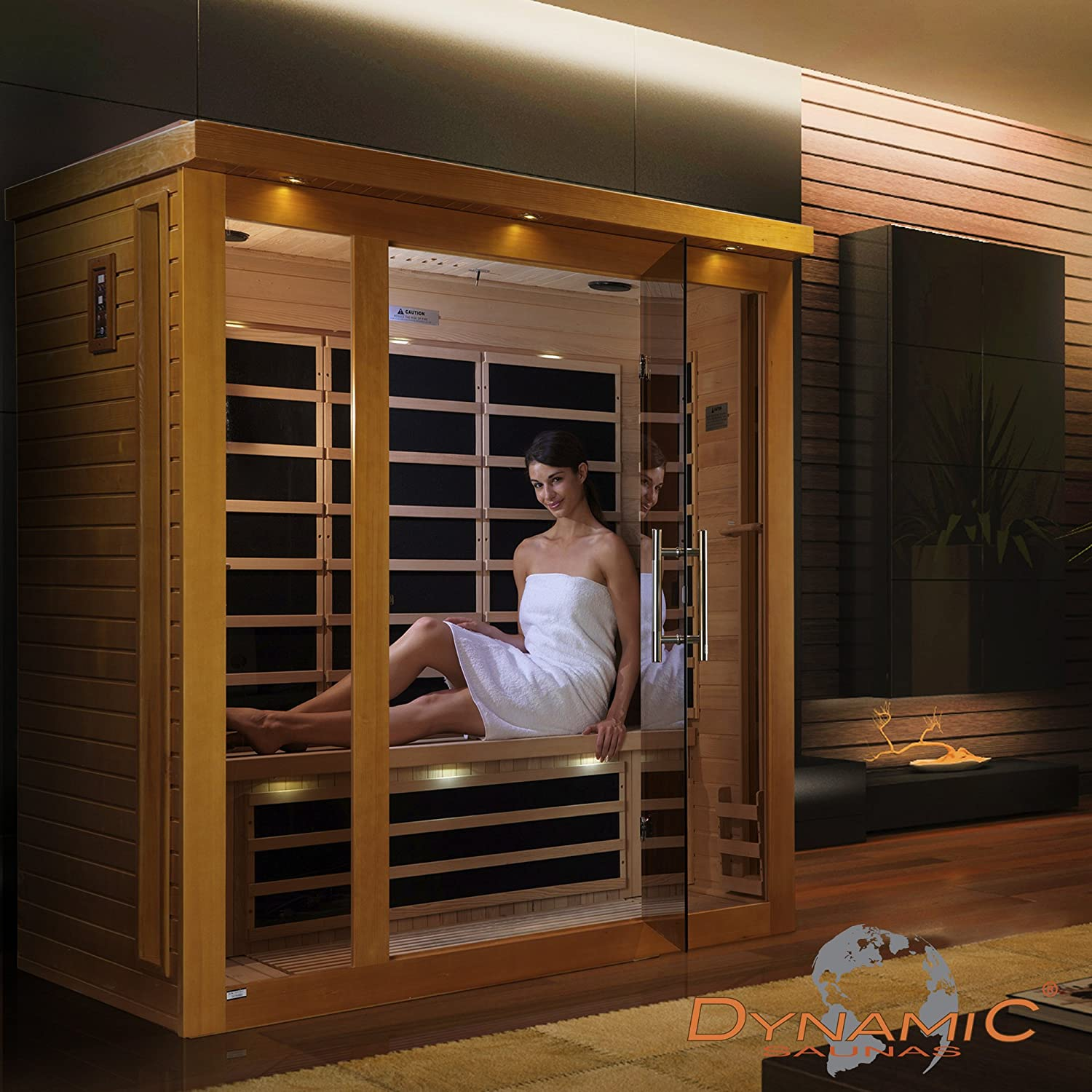 DYNAMIC SAUNAS AMZ-DYN-63-15-01 Florence Low EMF FAR Infrared Sauna