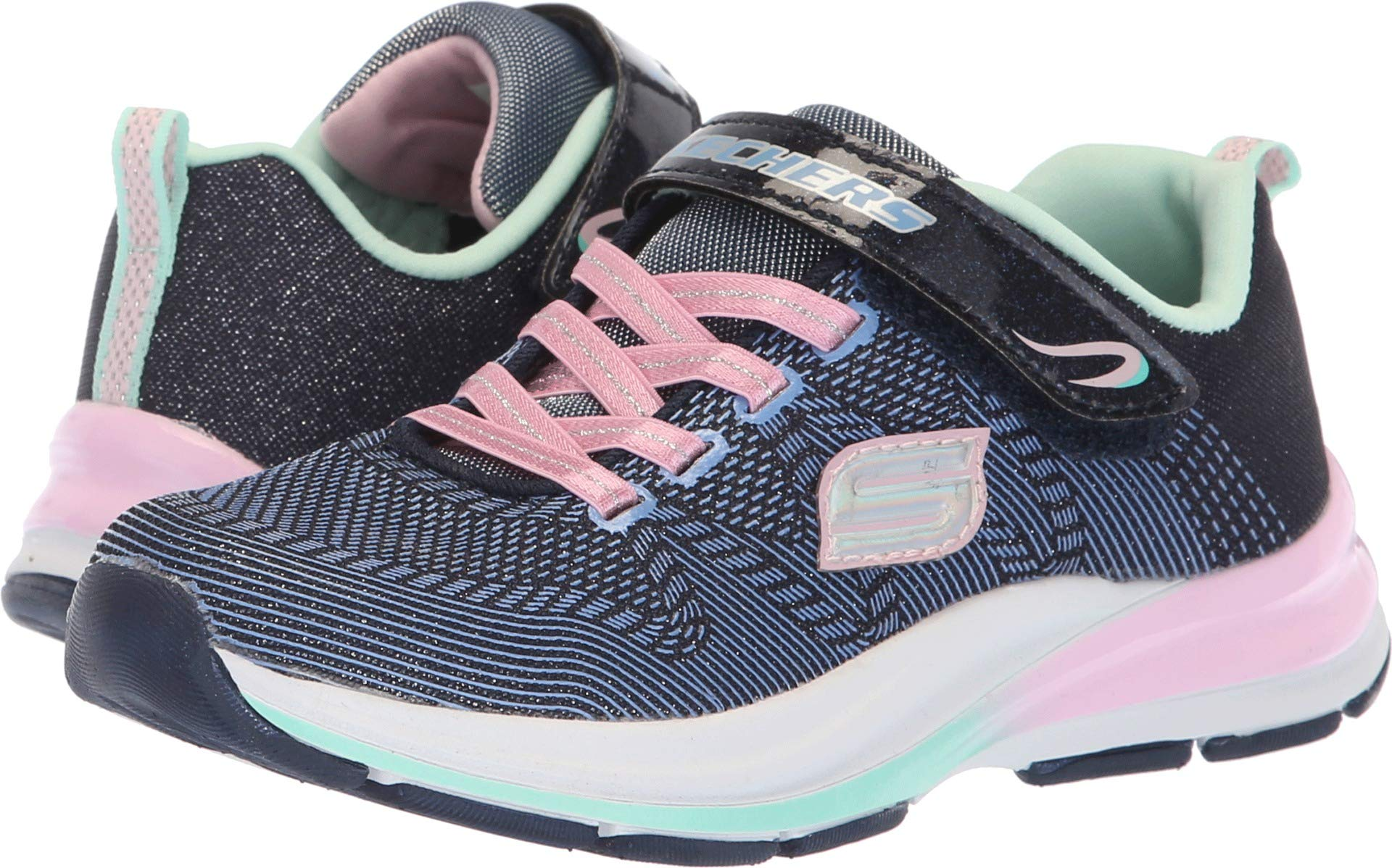 Skechers Kids Girls' Double Strides-Duo Dash Sneaker, Nvpk, 2 Medium US Little Kid