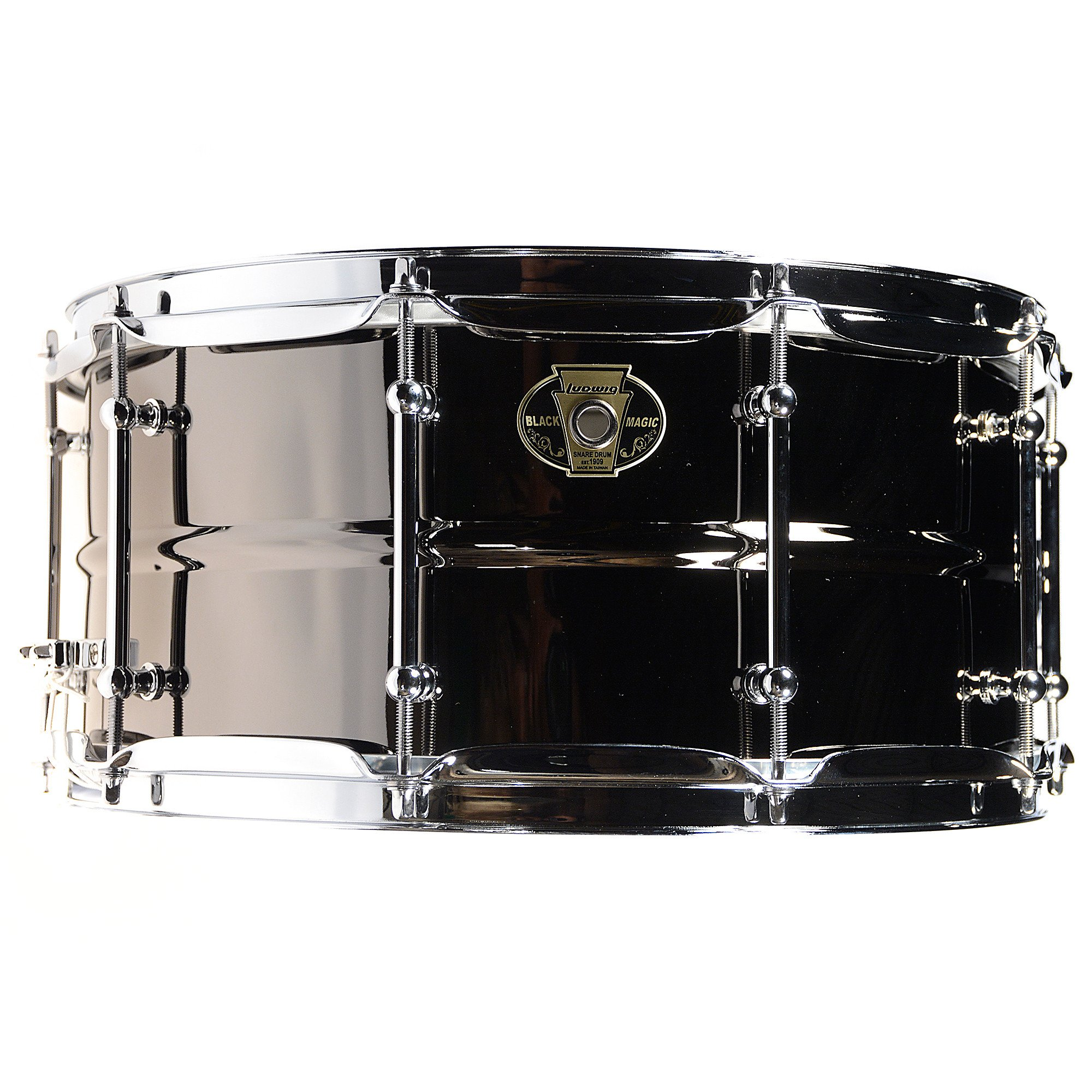 Ludwig Black Magic Snare Drum - 6.5 Inches X 14 Inches by Ludwig