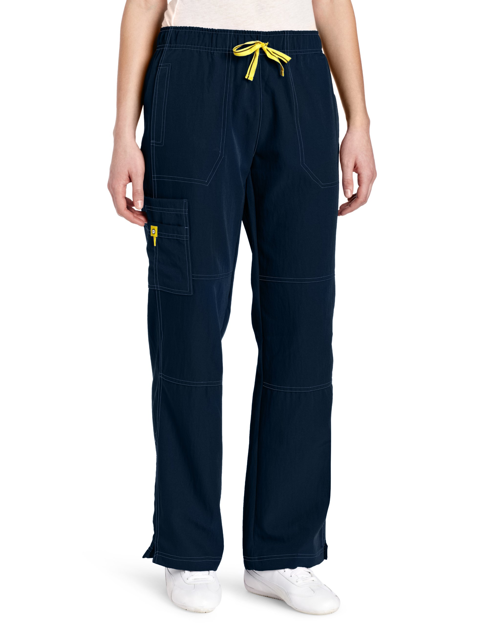 WonderWink Women's Scrubs Four Way Stretch Sporty Cargo Pant, Navy, X-Large