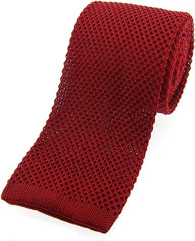 Soprano - Corbata de seda para hombre (corte recto), color rojo ...