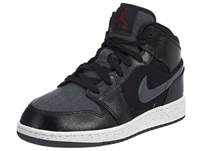 05d426a50a5b Jordan Air Jordan 1 Mid Basketball Boys Gradeschool Shoes Size 6