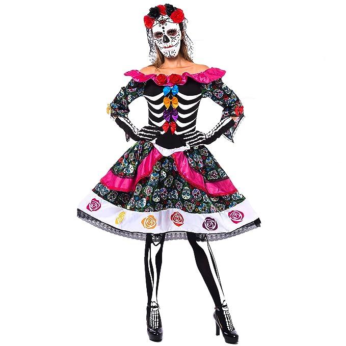 Amazon.com: Disfraz de Halloween para mujer del Día de los ...