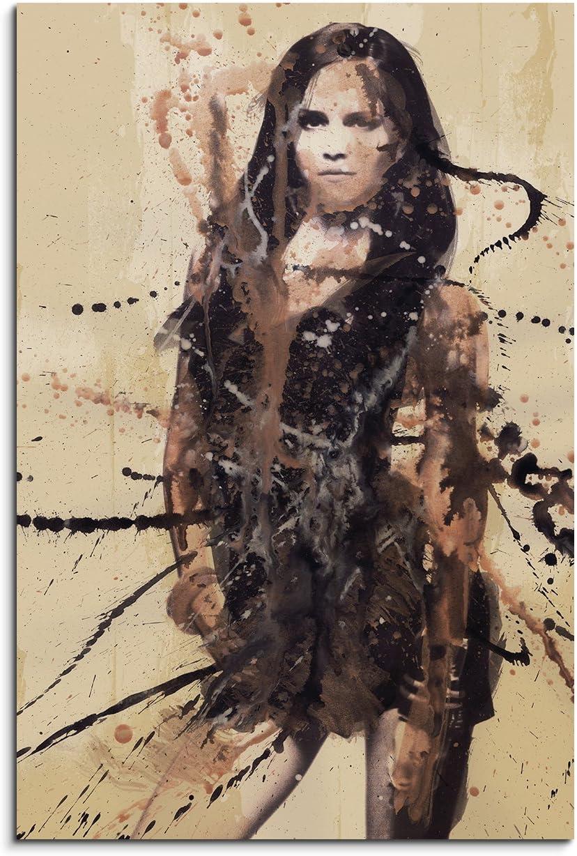 Emma Watson 90/x 60/cm sur toile pr/êt /à suspendre Tableau comme aqurell Art apr/ès peinture de Paul Sinus