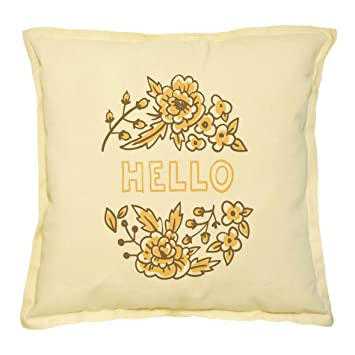 Amazon.com: Dibujo Emblema Reproducido Caqui Floral Throw ...