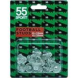 55 Sport World Cup Calcio Studs Tacchetti, Chiaro, 12x13 mm + 4x16 mm