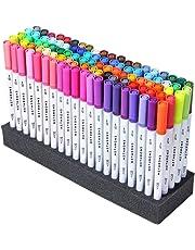 Hethrone de 100 colores con doble punta de pincel y rotulador fino de punta 0.4 PA32