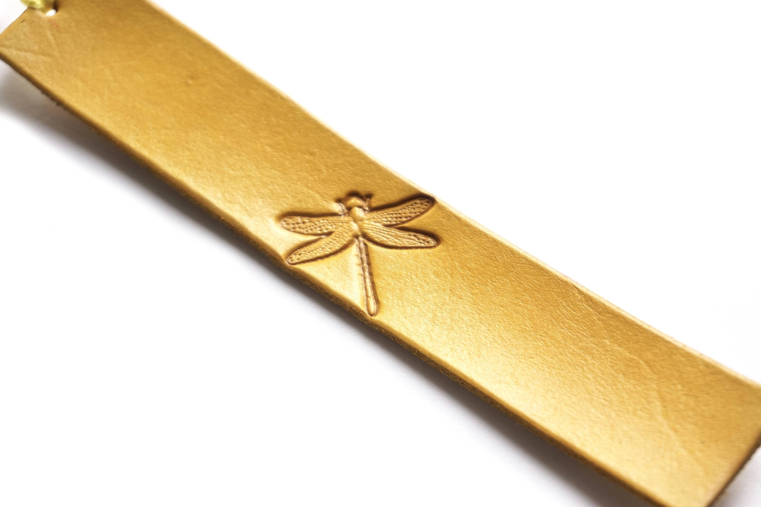 Handmade Leather Bookmark | Dragonfly w/Multiple Color Options
