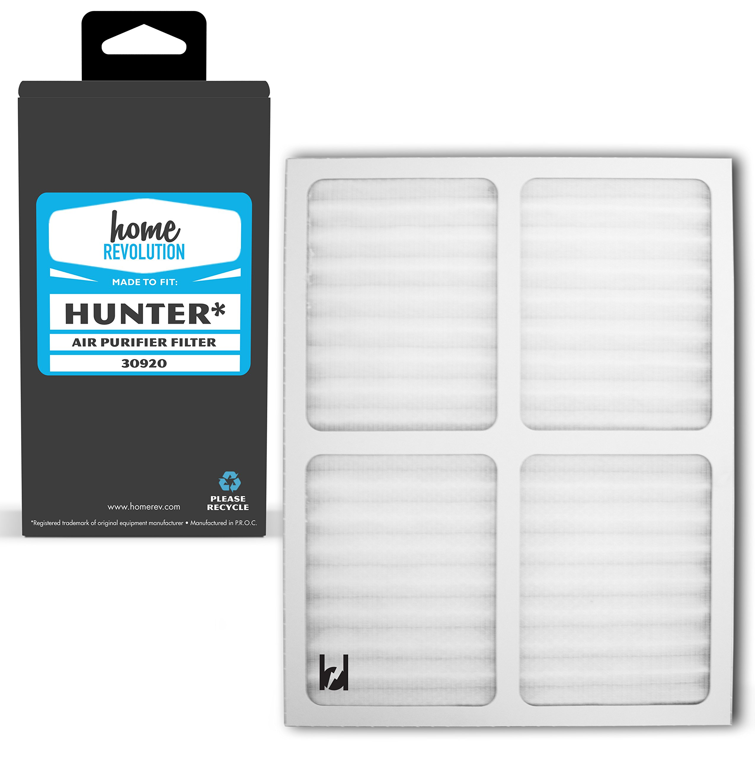 Home Revolution Replacement HEPA Filter, Fits Hunter Part 30920 and 30050, 30055, 30065, 37065, 30075, 30080 & 30177 Air Purifier Models