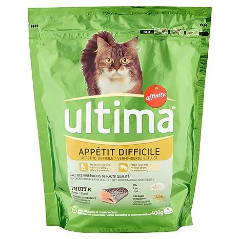 Ultima Appétit difficile para Gatos 400 g - Pack de 8 ...