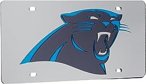 Rico Carolina Panthers Silver Laser Cut License Plate