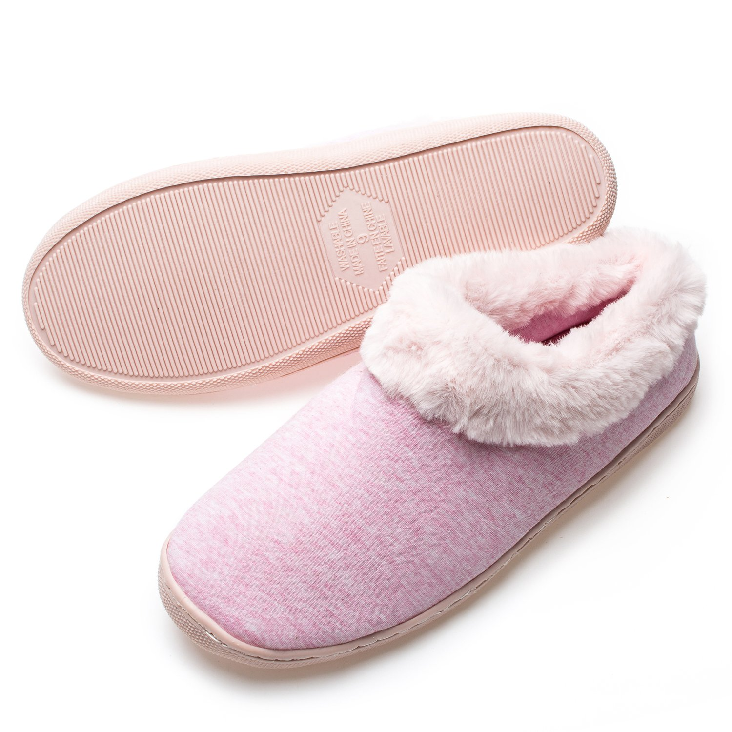 4d8eadb0dada Shoes Womens Comfort Coral Fleece Memory Foam Slippers Fuzzy Plush Lining  Slip-on Clog House Shoes ...