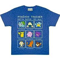 Popgear Pokemon Trainer Boys T-Shirt Royal Blue Heather Camiseta para Niños