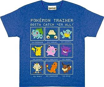 Pokemon Entrenador Camiseta de los Muchachos | mercancía Oficial | Edades 3-13, Ropa para niños, Pikachu niños más, jóvenes, Tween y tamaños Adolescentes, Idea del Regalo de cumpleaños: Amazon.es: Ropa y accesorios