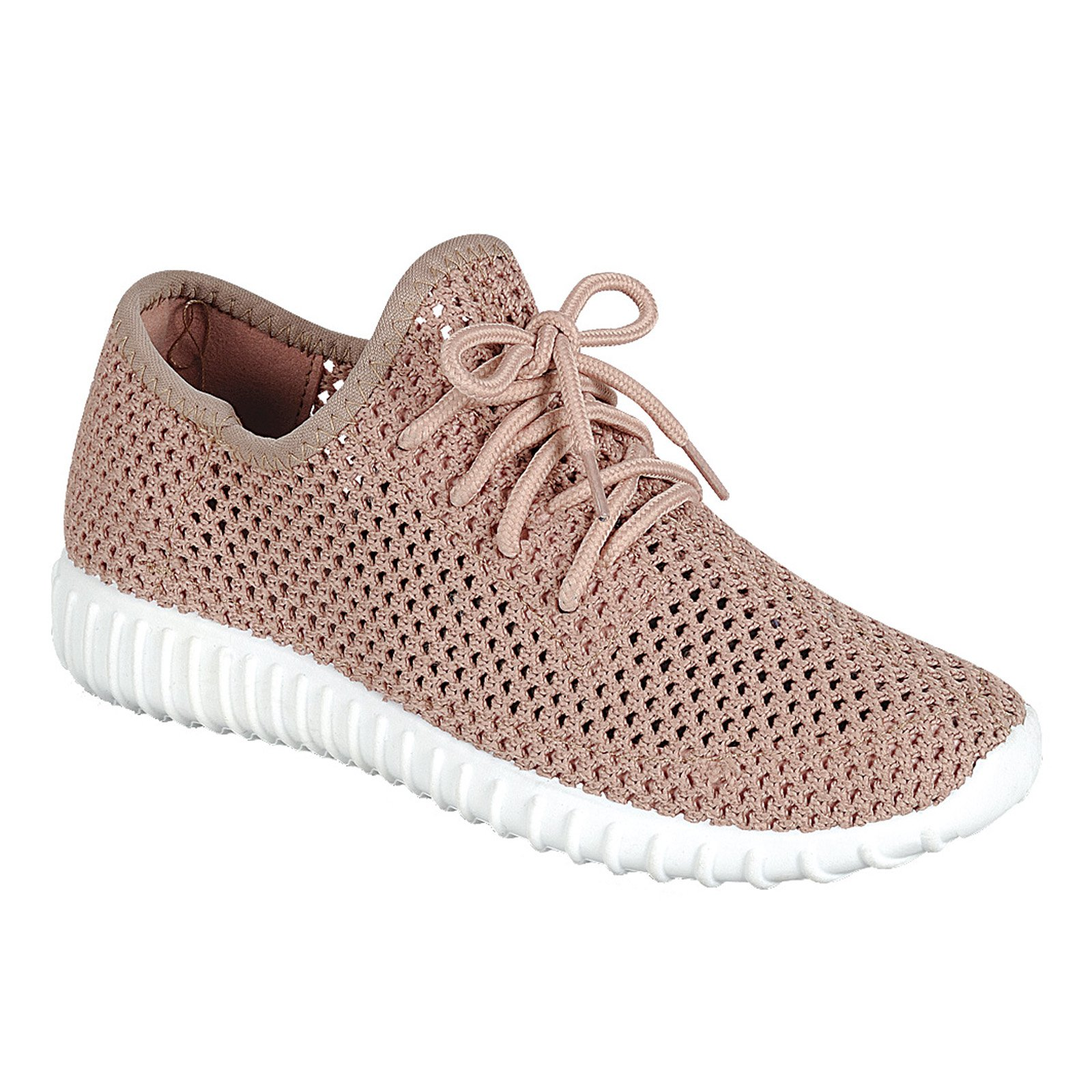 Forever Link Women's Remy Comfort Mesh Lace up Fashion Sneakers Shoes for Women Mauve-26, 7 B(M) US