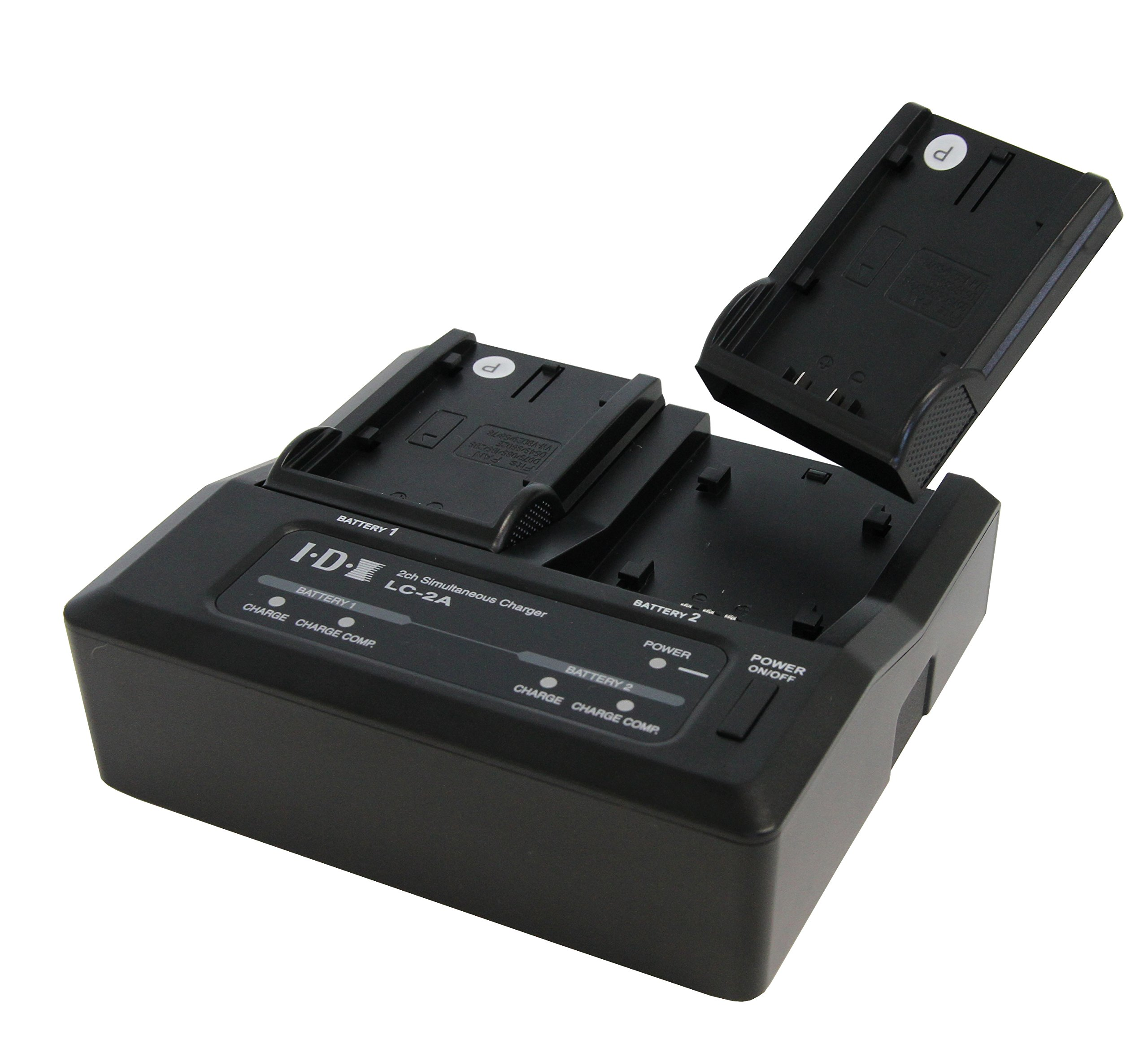2-Channel Simultaneous Multi-Brand 7.2/7.4V Lithium Ion Battery Charger for Sony, Canon, Panasonic, & IDX Batteries by IDX