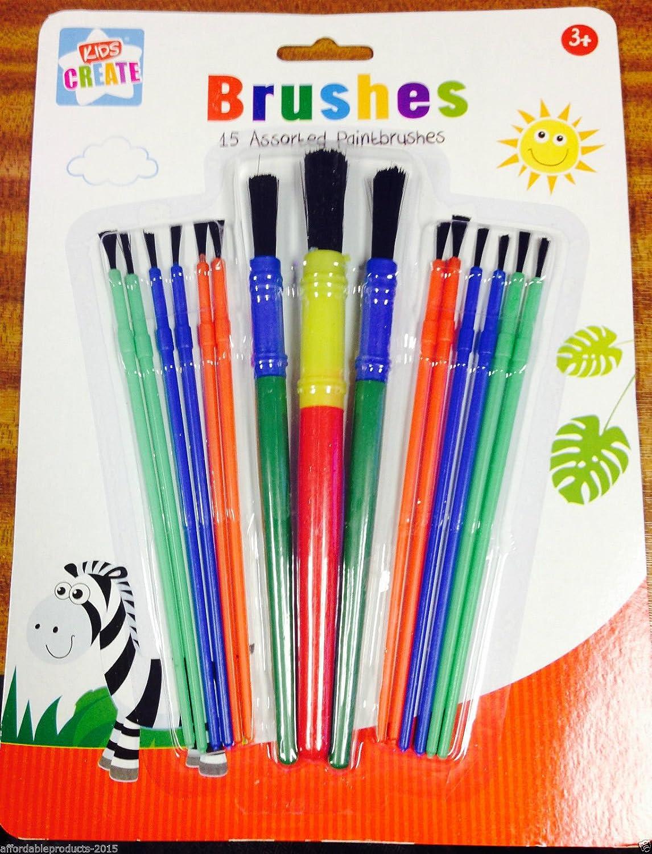 Kids Create 15 Assorted Paint Brush Set Brushes